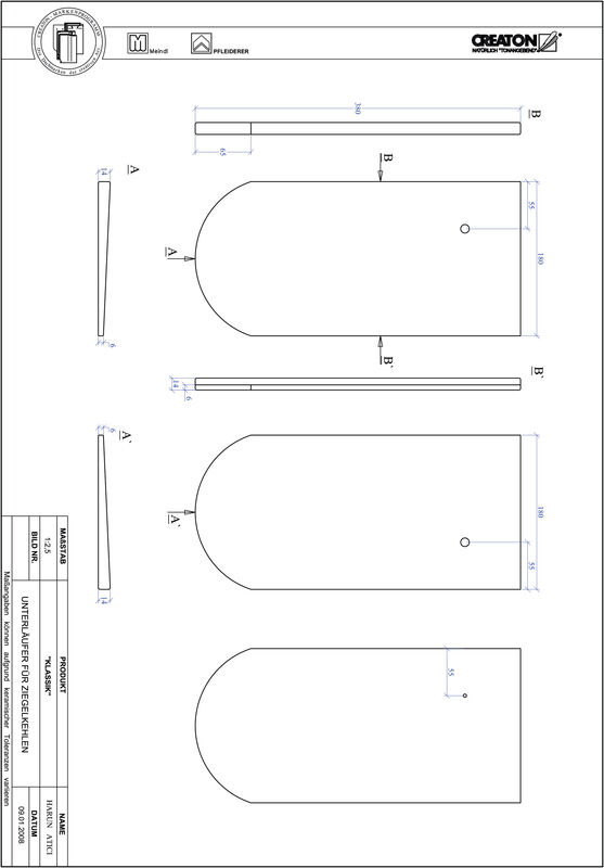 Produkt CAD-Datei KLASSIK Rundschnitt RUND-UNTERLAEUFER