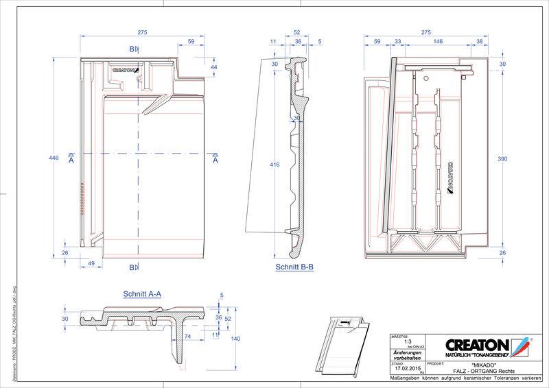 Produkt CAD-Datei MIKADO Firstanschlusslüfter Ortgang rechts FALOGR