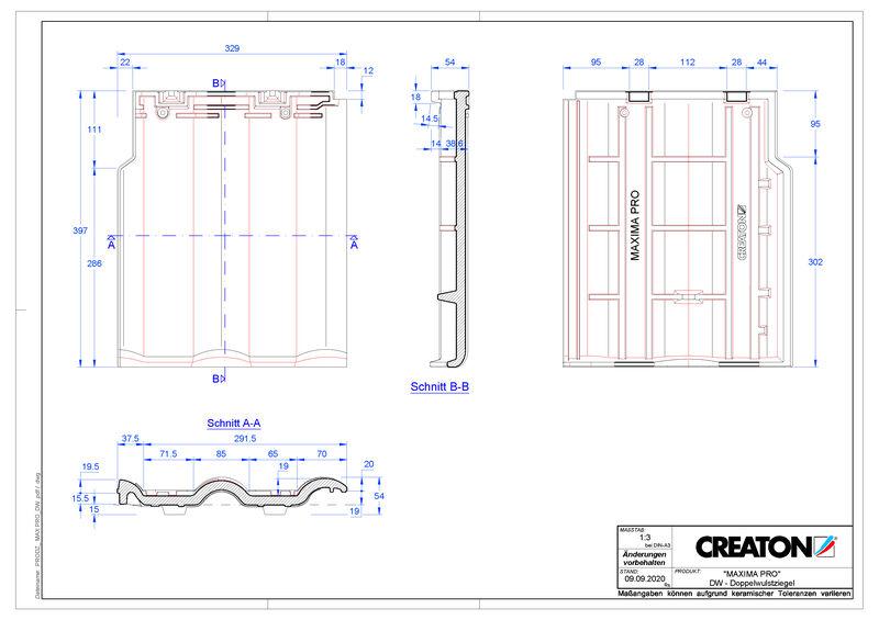 Produkt CAD-Datei MAXIMA PRO Doppelwulstziegel DWZ